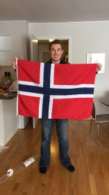 My first souvenir! I had to buy the Norwegian flag.