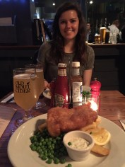 What's the first thing we do in London? We head straight to an English Pub for fish and chips