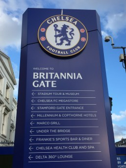 The Chelsea Football Stadium. We didn't even mean to see it. We were just wandering around London and there is was!