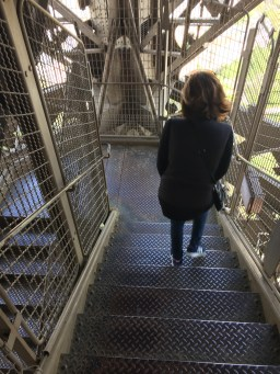 Heading down the Eiffel Tower. There were A LOT of stairs....