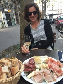 Walking back down from Sacré-Cœur. We decided to stop for some meat and cheese.