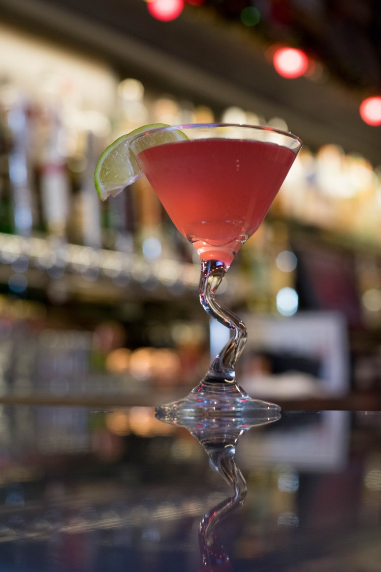 Cosmopolitan on our bar at Avenue K located inside of Benjies.