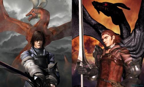 drakengard review - caim and inuart