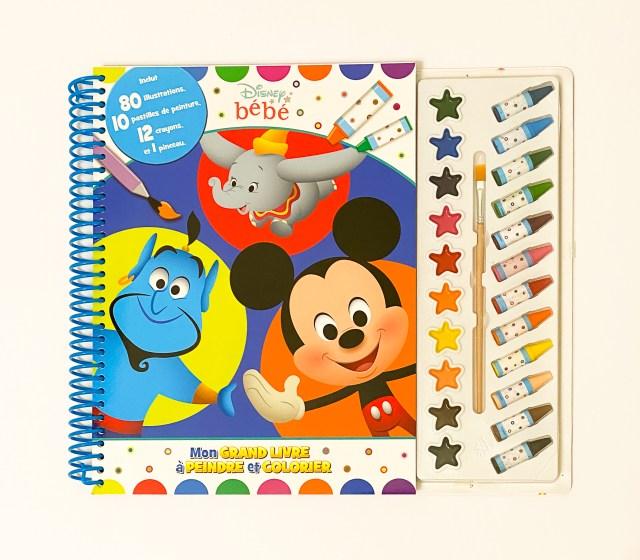 Disney bébé Mon grand livre à peindre et colorier