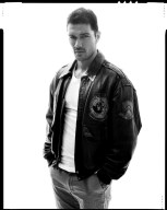 Ryan wears t-shirt Jacob Holston, pants American Apparel and vintage leather jacket Dior from Stylehouse13.