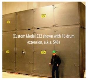 Custom Built 'Sahara Hot Box' Model S48 - Steam Drum Heater | Drum Oven
