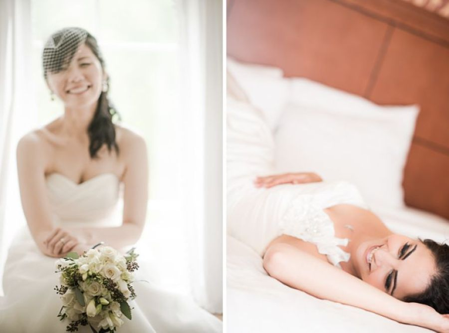 Bridal portraits captured by NJ wedding photographer Ben Lau.