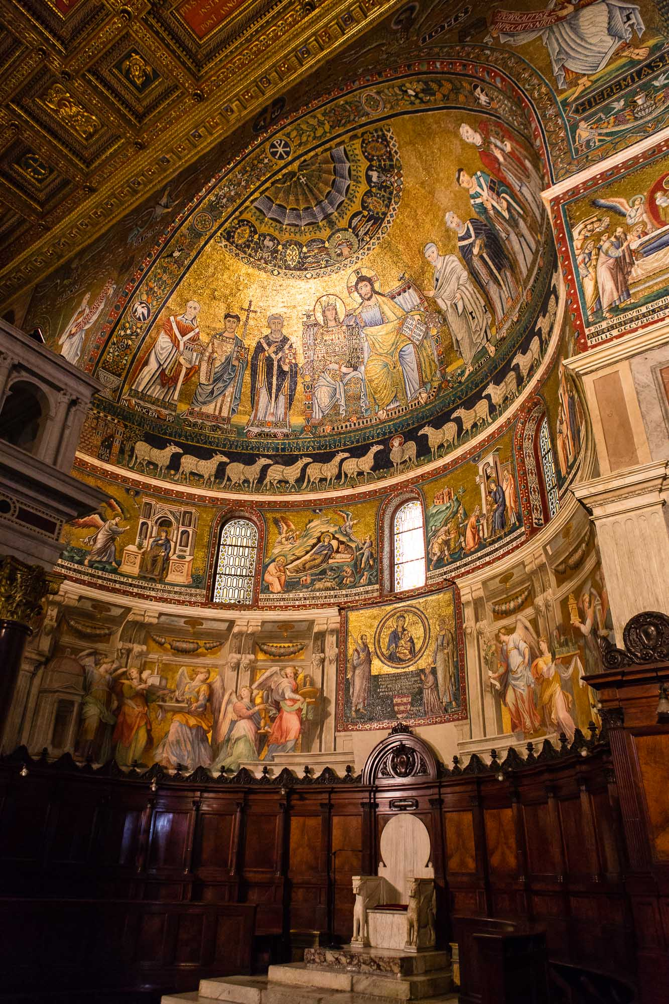 Church interior taken by Ben Lee, a derbyshire based photographer on his trip to Rome.