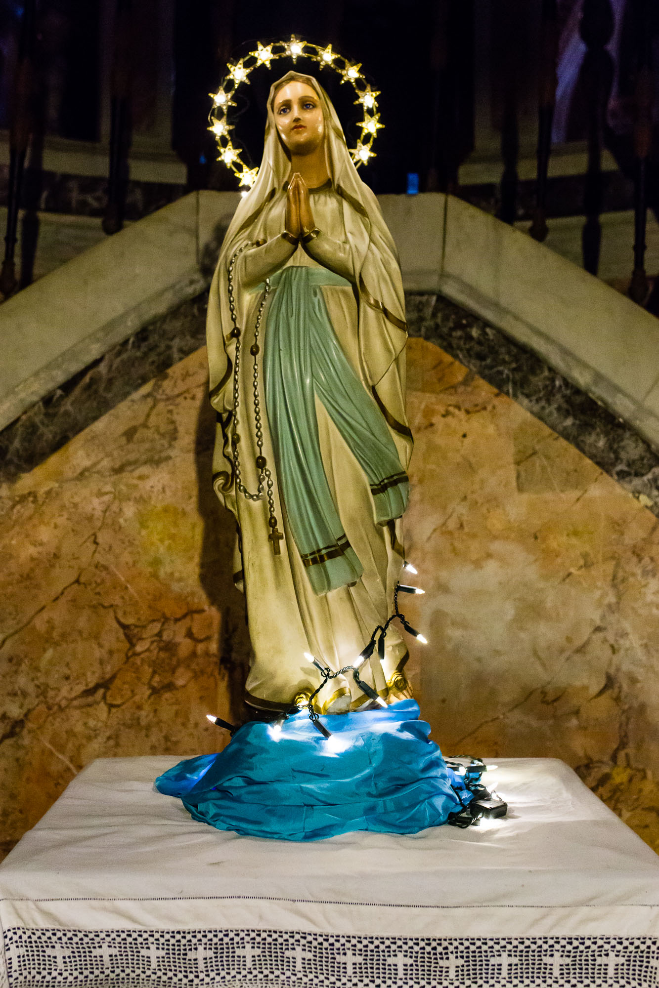 A statue of the Virgin Mary taken by Ben Lee, a derbyshire based photographer on his trip to Rome.