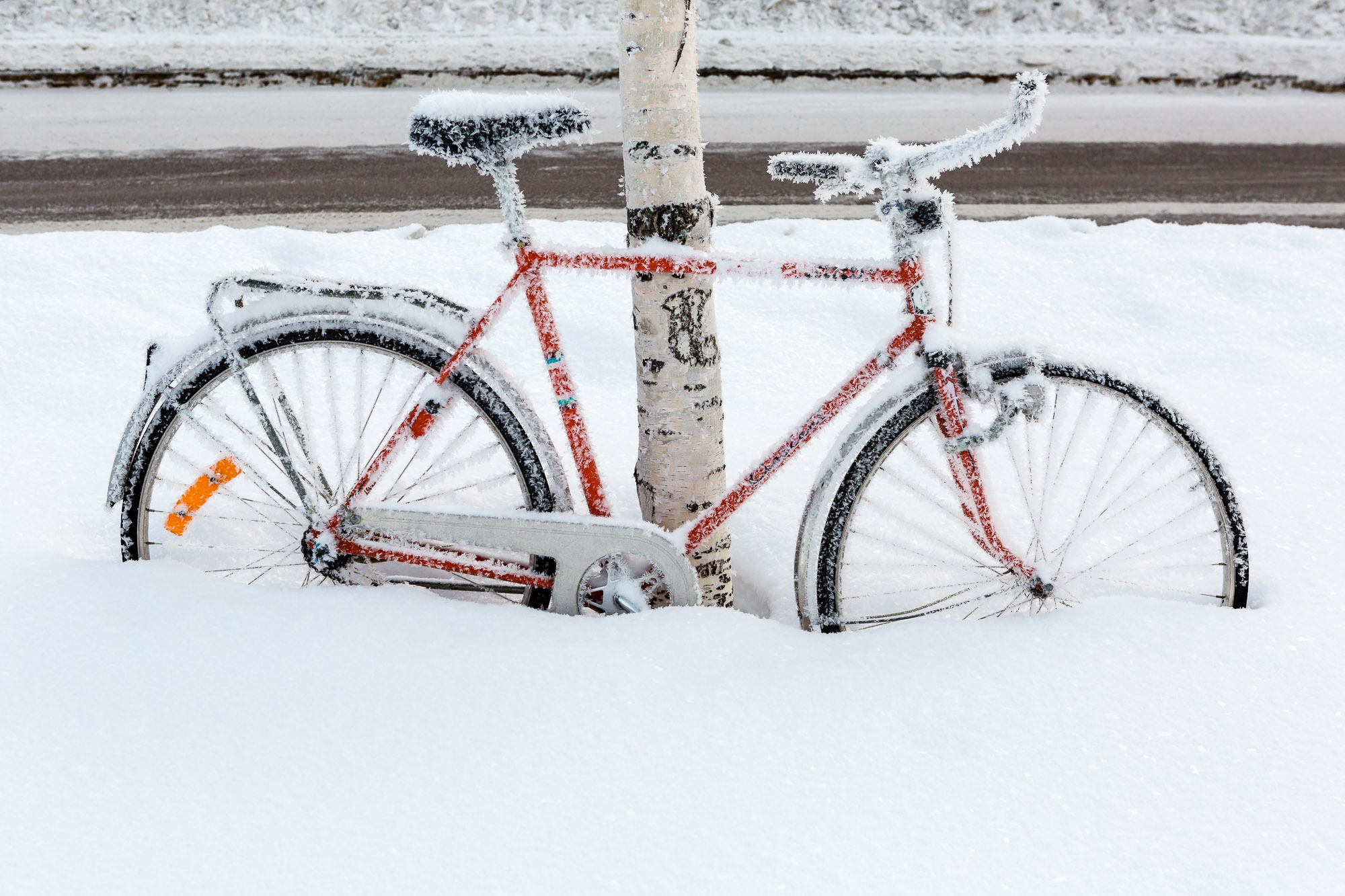 Frozen bike, Luleå, Sweden January 2017, Ben Lee Photography