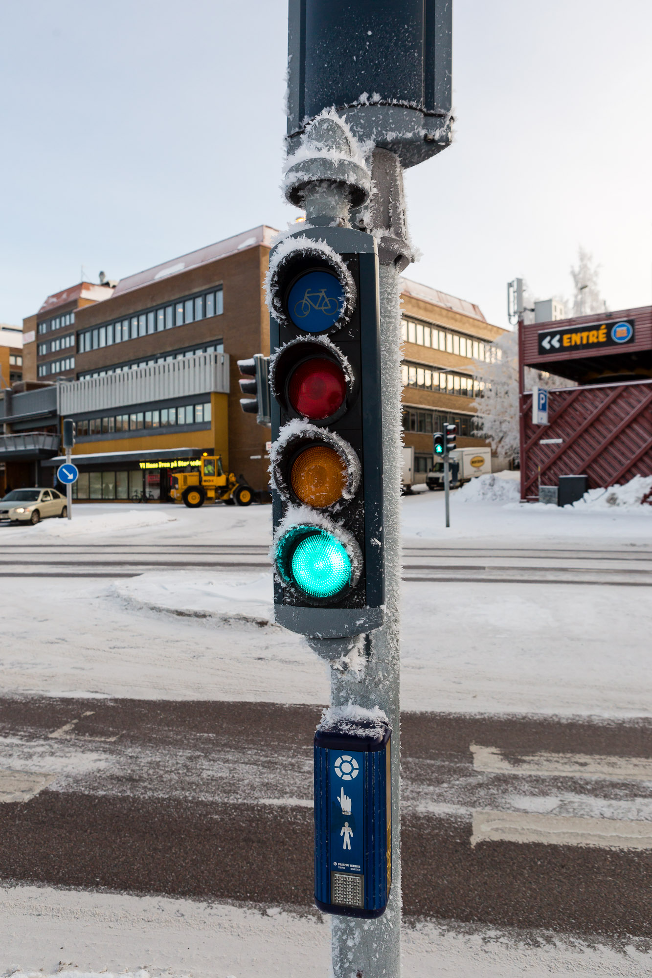 Crossing signal, Luleå, Sweden January 2017, Ben Lee Photography