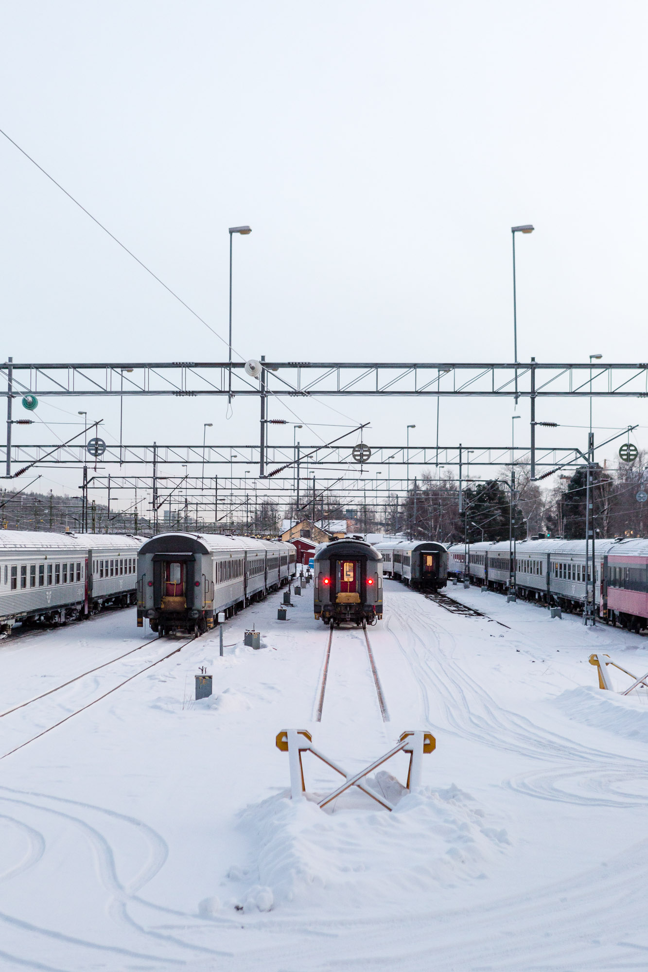Train carriages, Luleå, Sweden January 2017, Ben Lee Photography