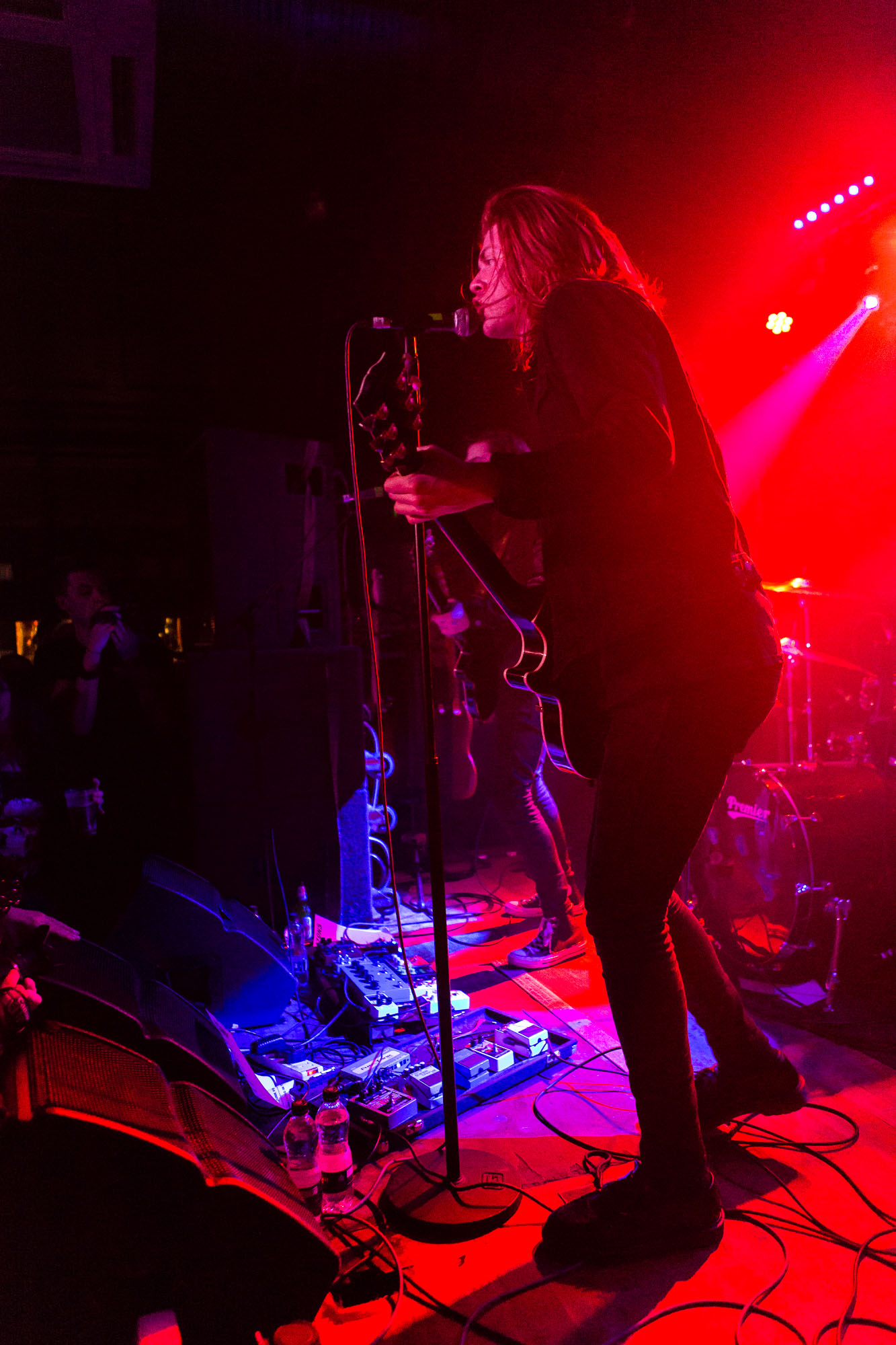 The Amazons playing the Bodega Social in nottingham, march 2017, photograph by ben lee photography