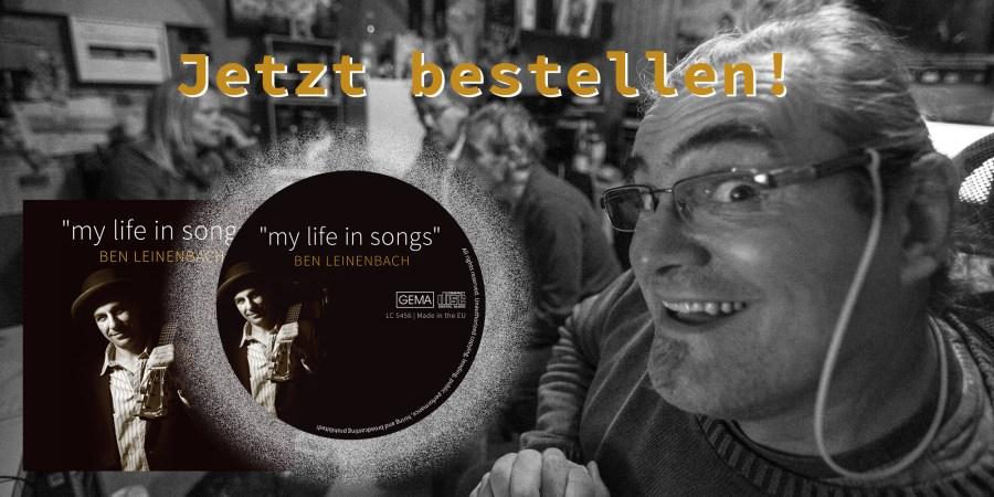 """Die neue CD """"my life in songs"""" kommt …"""