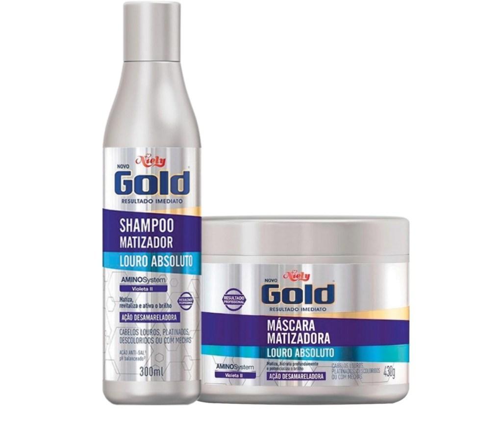 Niely gold Matizador shampo e mascara louro absoluto