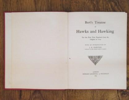 book Hawks and Hawking by Edmund Bert