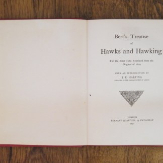 book Hawks and Hawking by Edmund Bert