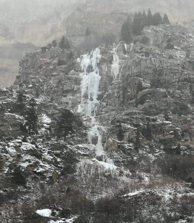 Glenwood falls looking daunting.