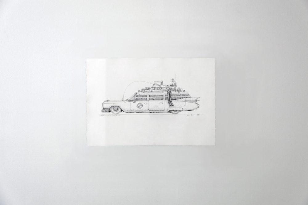 GHOSTBUSTERS, ECTO-1, CADILLAC ELDORADO BIARRITZ 1959, GHOSTBUSTERS