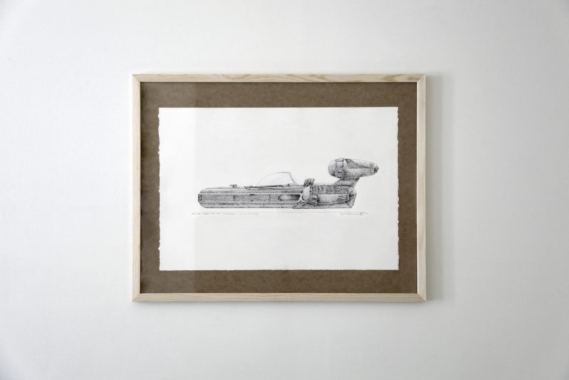 STAR WARS: A NEW HOPE, X34 LANDSPEEDER, LUKE SKYWALKER