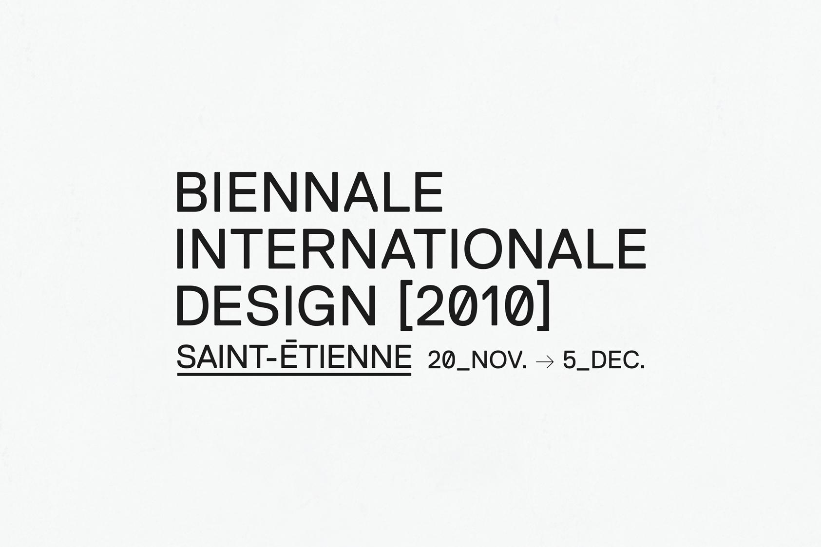 BIENNALE INTERNATIONALE DESIGN SAINT-ÉTIENNE 2010