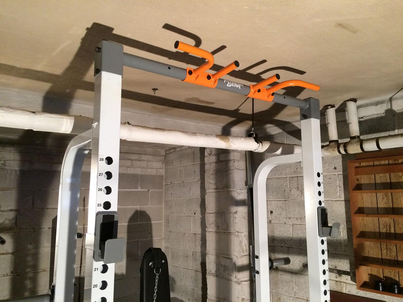 home gym squatting benching