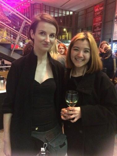 Me with Polish performance artist Karolina Kubik