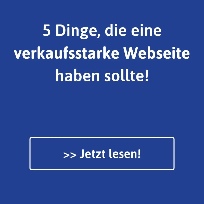 Verkaufsstarke Webseiten