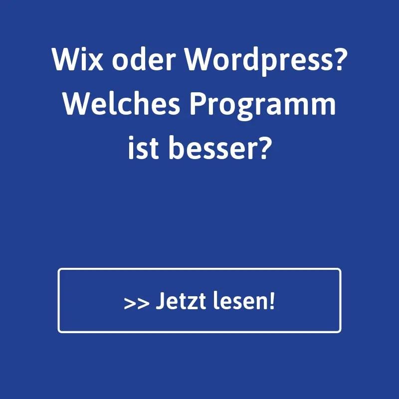 Wix oder WordPress?