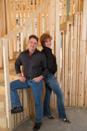 Jim and Pal Bennett in a custom home under construction.