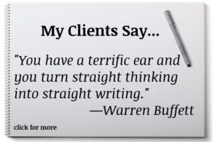 Warren Buffett highly recommends Elaine Bennett's work