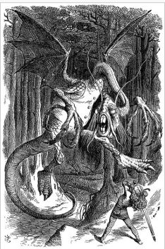 The Jabberwock, originator of the portmanteau word