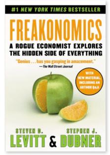 Freakonomics, a case study in making data interesting