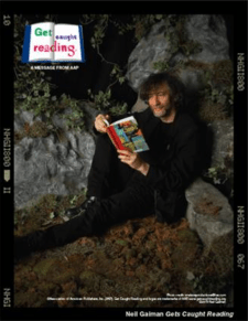 Neil Gaiman promotes reading fiction