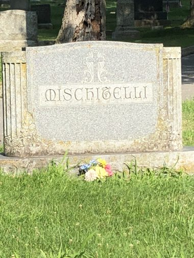 white gravestone, 19th century-style font