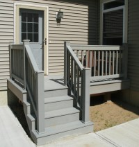 Small Home Exterior Design: Prefabricated Porch Steps