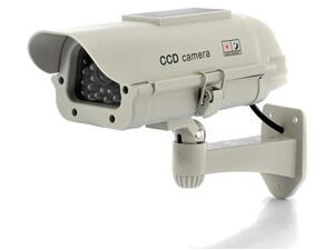 Solar powered dummy security camera