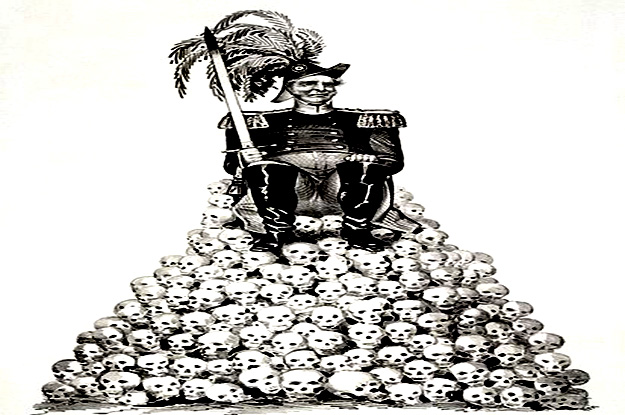 settler colonist sitting on skulls 625 x 415