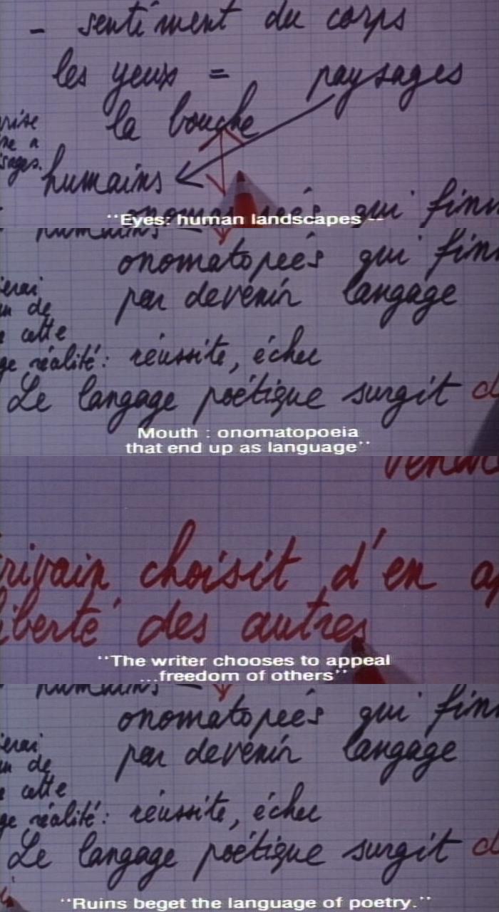 words scene