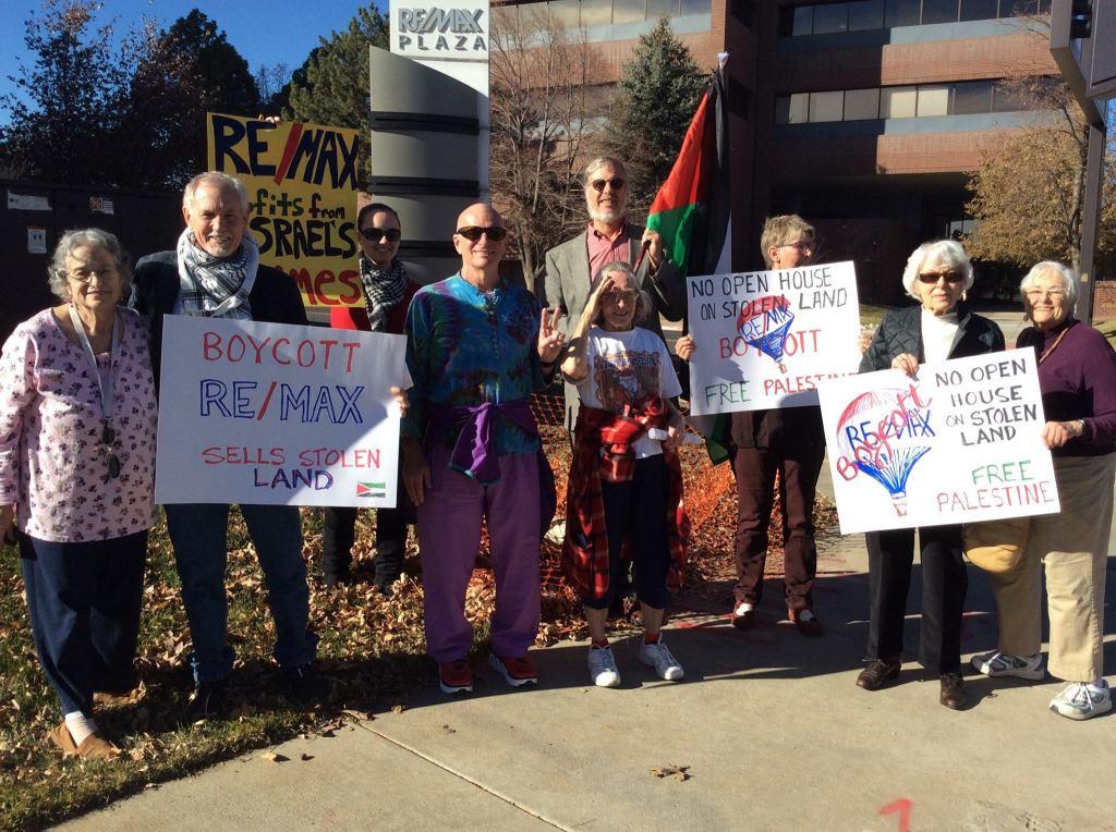 No Open House protesters in Denver, Colorado on 2 December   CREDIT: Facebook
