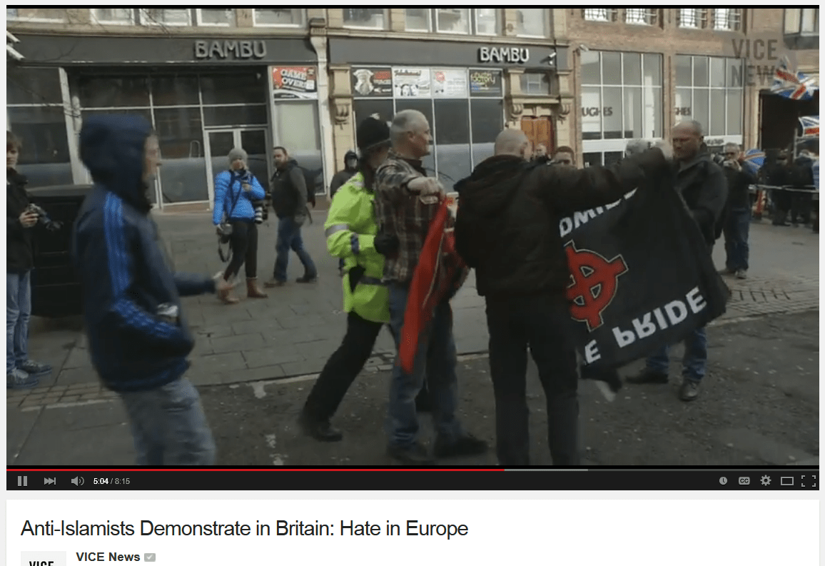 pegida uk vice neo nazis with flags
