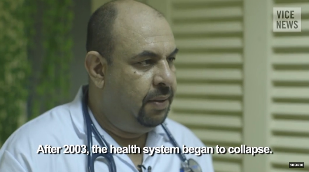 baghdadi doctor health system collapse
