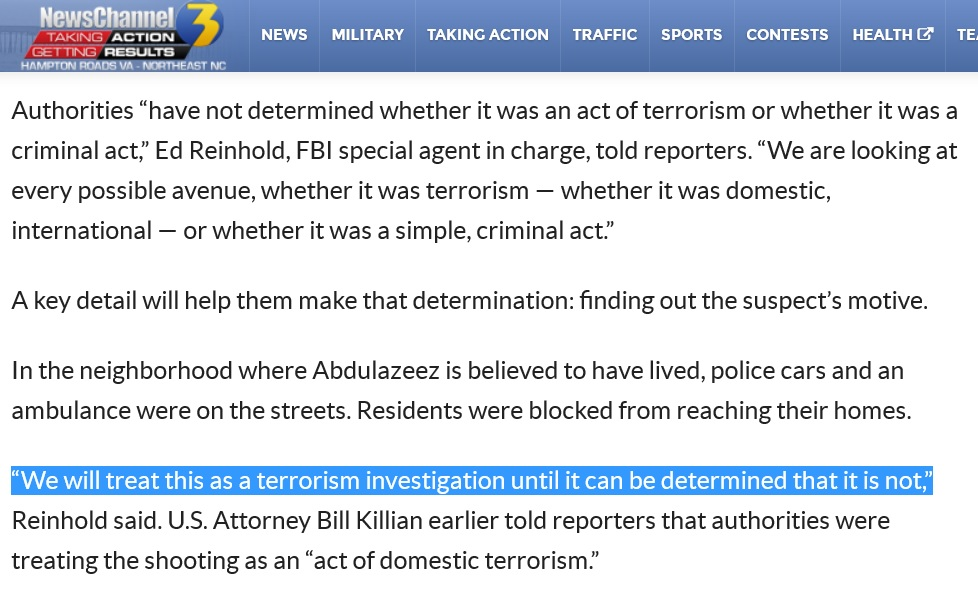 chattanooga shooting fbi terrorism