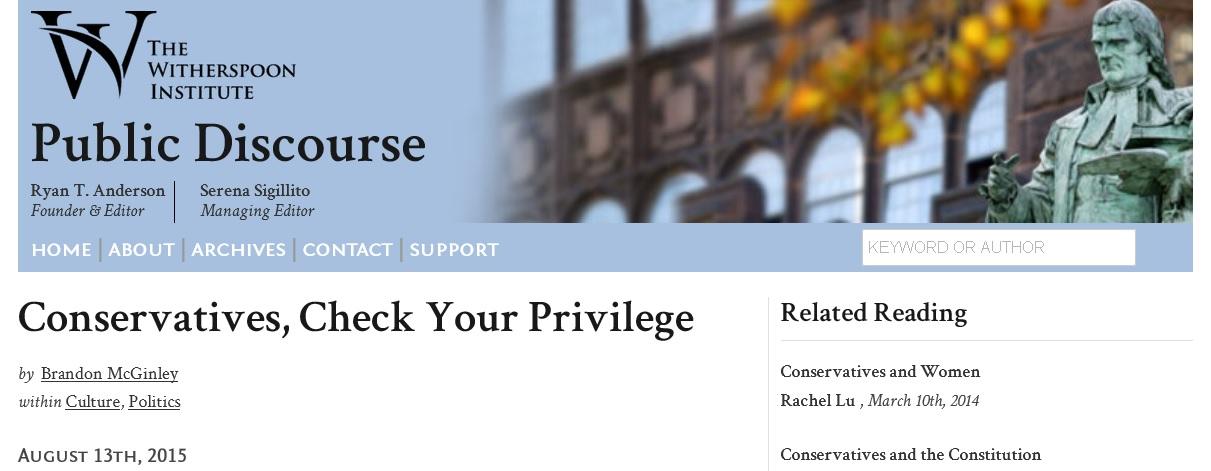 Conservative Think Tank Advocates Identity Politics