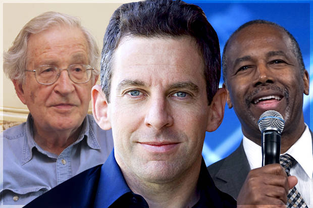 "Siding with Christian fanatics like Carson over Chomsky, Sam Harris exposes inherent conservatism of ""New Atheism"""
