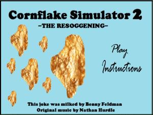 Cornflake Game Main Screen