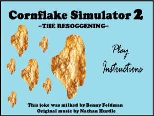 Cornflake Game Main Screen
