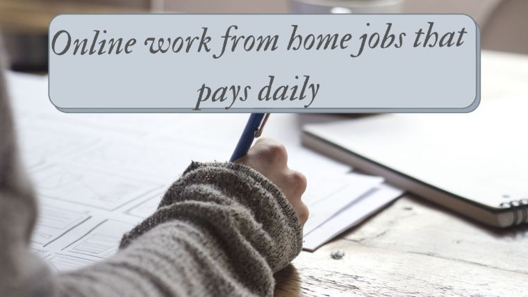 jobs that pay daily