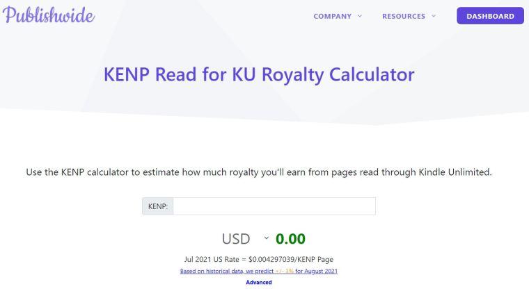 book royalties calculator