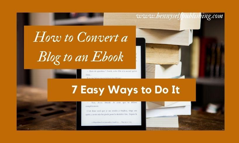 blog to an ebook